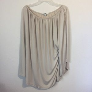 XXI Forever 21 Champagne One Shoulder Blouse Top
